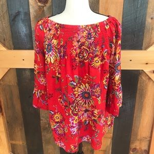 Beach Lunch Lounge Collection floral top, size M